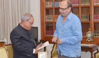 Saeed Naqvi has presented his book to the Honorable President of India.