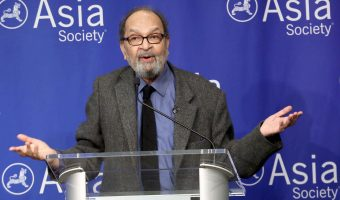 Saeed Naqvi during a  conversation at Asia Society in New York.